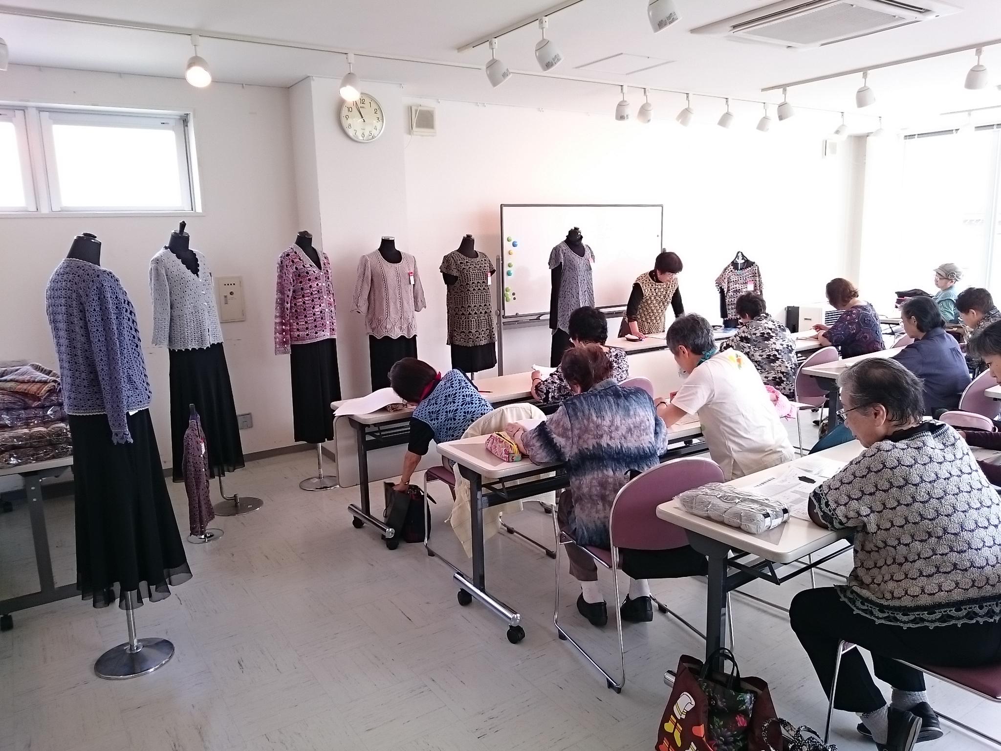 スキー毛糸 編み物 講習会