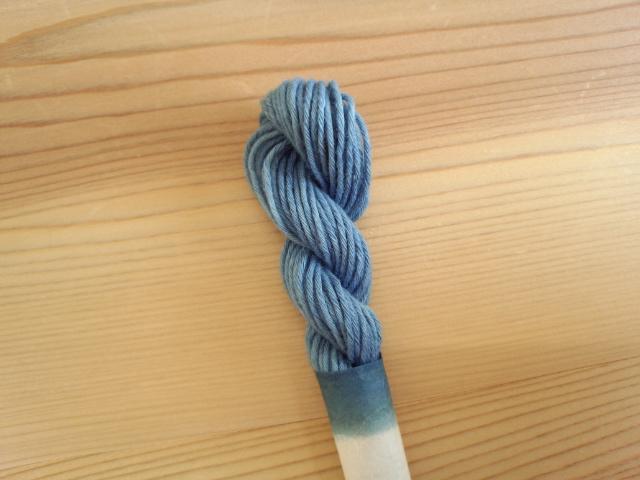 草木染糸 りんご 桜 藍